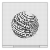 элемент дизайна Провод-рамки сфера Стоковые Фото