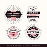 Элемент дизайна рамки логотипа дня рождения Стоковые Изображения