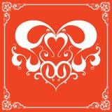 Элемент дизайна для украшений. День валентинок и Стоковое Изображение