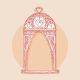 Элемент дизайна для wedding поздравительной открытки Винтажный стиль, нарисованная рука Стоковая Фотография RF