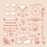 Элемент дизайна для wedding поздравительной открытки Стоковое Фото
