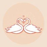 Элемент дизайна для wedding поздравительной открытки Стоковые Изображения RF