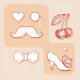 Элемент дизайна для wedding поздравительной открытки Стоковое Изображение