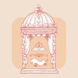 Элемент дизайна для wedding поздравительной открытки Стоковые Изображения