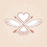 Элемент дизайна для wedding поздравительной открытки Стоковые Фото
