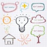 Элемент дизайна Doodle Стоковое Изображение