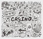 Элемент казино Doodle Стоковые Фото