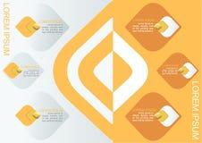 Элемент картины вектора тайский декоративный для желтого цвета темы дизайна Infographic, представления и диаграммы, абстрактной п Стоковые Фотографии RF
