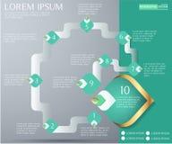 Элемент картины Таиланда декоративный для infographic дизайна или диаграммы потока операций, номера, диаграммы Стоковая Фотография