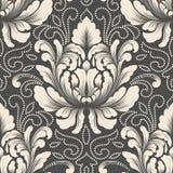 Элемент картины штофа вектора безшовный Классический роскошный старомодный орнамент штофа, королевская викторианская безшовная те Стоковое Изображение RF
