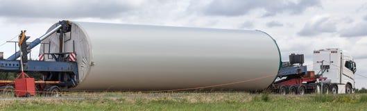 Элемент конструкции ветротурбины на тележке Стоковые Изображения