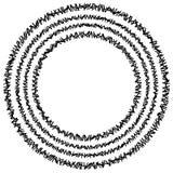 Элемент концентрического круга сделанный прямоугольников Геометрический круг d Стоковое Изображение RF