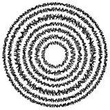 Элемент концентрического круга сделанный прямоугольников Геометрический круг d Стоковые Фотографии RF