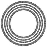 Элемент концентрического круга сделанный прямоугольников Геометрический круг d Стоковые Фото