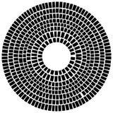 Элемент концентрического круга сделанный прямоугольников Геометрический круг d Стоковые Изображения