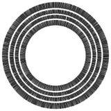Элемент концентрического круга сделанный прямоугольников Геометрический круг d Стоковая Фотография RF