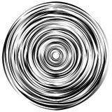 Элемент концентрического круга сделанный скачками кругов, линий Isol Стоковое Изображение