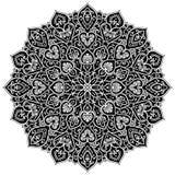 Элемент круга мандалы геометрический, черный Стоковая Фотография RF
