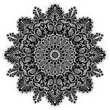 Элемент круга мандалы геометрический, черный Стоковое Изображение RF