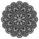Элемент круга мандалы геометрический, черный Стоковые Фотографии RF