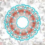 Элемент мандалы с абстрактной картиной Стоковые Фотографии RF