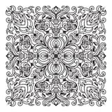 Элемент мандалы zentangle чертежа руки Итальянский стиль майолики Стоковое Изображение RF