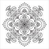 Элемент мандалы zentangle чертежа руки Итальянский стиль майолики Стоковые Изображения