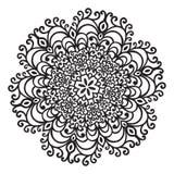 Элемент мандалы zentangle чертежа руки Стоковое Изображение RF