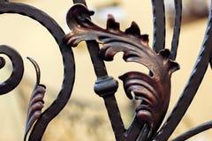 элемент ограждая металл утюга нанесённый Стоковая Фотография
