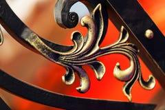 элемент ограждая металл утюга нанесённый стоковое изображение rf