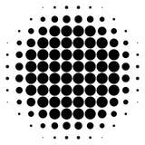 Элемент полутонового изображения круга Картина поставленная точки Monochrome круговая иллюстрация штока