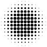 Элемент полутонового изображения круга Картина поставленная точки Monochrome круговая иллюстрация вектора