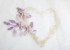 Элемент приглашения свадьбы или помолвки декоративный Стоковые Изображения