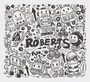 Элемент робота Doodle Стоковое фото RF