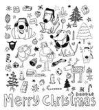 Элемент рождества Doodle также вектор иллюстрации притяжки corel Стоковое фото RF