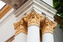 Элемент столбца в историческом архитектурноакустическом здании Стоковое Изображение