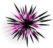 Элемент с случайными линиями лучами излучая Форма взрыва конспекта Стоковые Фото