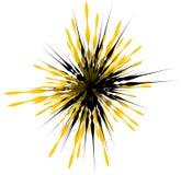 Элемент с случайными линиями лучами излучая Форма взрыва конспекта Стоковые Изображения