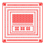 Элемент украшения границы китайского стиля для illust вектора дизайна Стоковые Фото