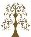 Элемент украшения золота в форме дерева Стоковое фото RF