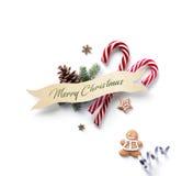 Элемент украшения праздника рождества; Орнамент рождества с fi Стоковые Изображения RF