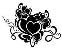Элемент флористического дизайна дня валентинки Стоковые Изображения