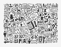 Элемент цепи Doodle Стоковая Фотография RF
