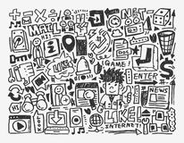 Элемент цепи Doodle Стоковое Фото