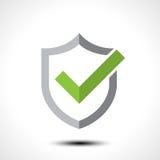 Элемент шаблона дизайна значка логотипа контрольной пометки экрана Стоковое Изображение