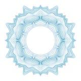 Элемент Guilloche декоративный для сертификата, диплома и банкноты дизайна Стоковое фото RF