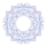 Элемент Guilloche декоративный для сертификата, диплома и банкноты дизайна Стоковая Фотография
