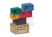 Элемент Infographic, коробка, случай, Стоковая Фотография RF