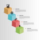 Элемент Infographic кубики 3d вектор иллюстрация вектора