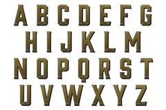 Элемент Scrapbooking стиля Steampunk алфавита цифров Стоковые Фотографии RF